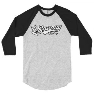 Snappy Baseball Tee BlackGrey